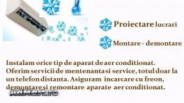 Montaj aparate aer conditionat, mentenanta