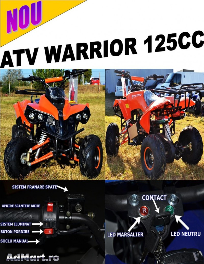 Atv Bashan 125cc Warrior,Livrare la Domiciliu