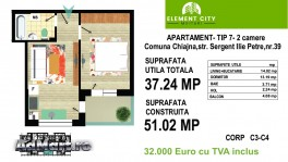 Apartament 2 camere Element City Militari