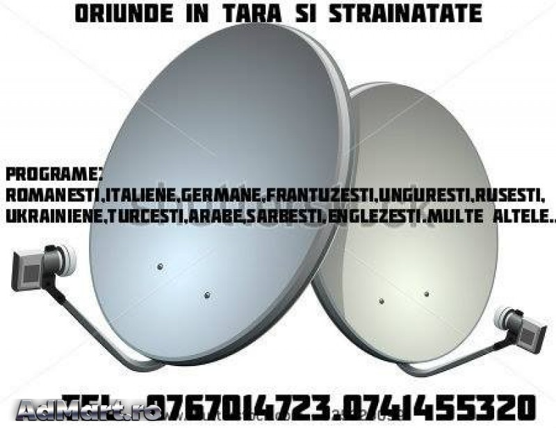 Antene Tv si Radio fara abonament 0767014723,